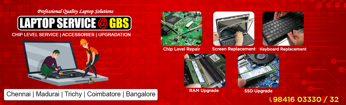 Laptop Service Center in Chennai, laptop service in chennai